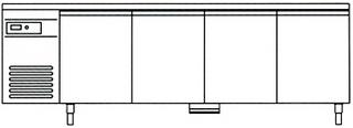Стол холодильный Castel MAC TBF 4-C