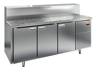 Стол охлаждаемый для пиццы HICOLD PZ1-111/GN (1/3) гранит