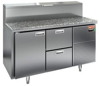 Стол охлаждаемый для пиццы HICOLD PZ1-12/GN (1/3) гранит