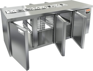 Стол охлаждаемый для салатов HICOLD SL2T-111/GN