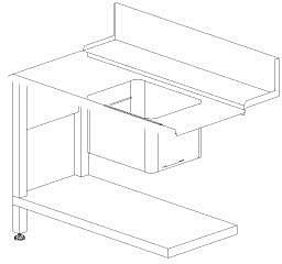 Стол с моечной с ванной Dihr T50 SX