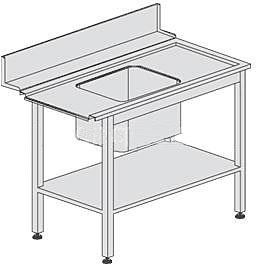Стол предварительной мойки Dihr T 55 DX