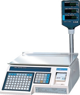 Электронные торговые весы CAS LP-15R (v1.6) TCP-IP