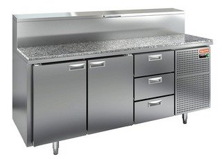 Стол охлаждаемый для пиццы HICOLD PZ1-113/GN (1/3) гранит
