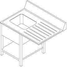 Стол с моечной с ванной Dihr A 20 DX