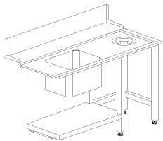 Стол с моечной с ванной Dihr T80 DX
