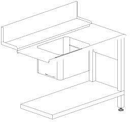 Стол с моечной с ванной Dihr T50 DX