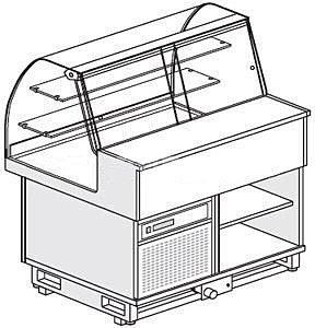 Витрина холодильная напольная Clabogroup TIEFFE FSC 10