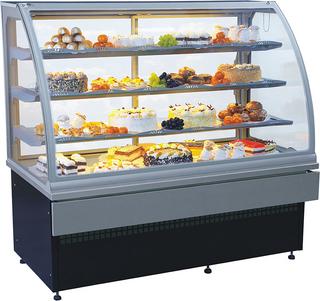Прилавок холодильный кондитерский ES-SYSTEM CARINA 02 1,0 серебро