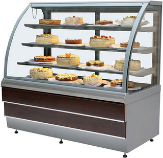 Прилавок холодильный кондитерский ES-SYSTEM CARINA 02 1,4 вишня, золото
